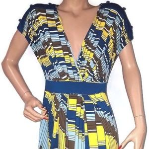 BCBG Max Azria  Abstract Geometric Dress